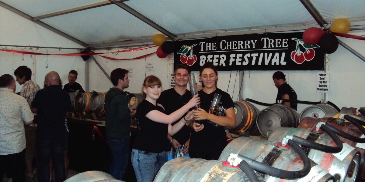 Kegs at the Beer Festival
